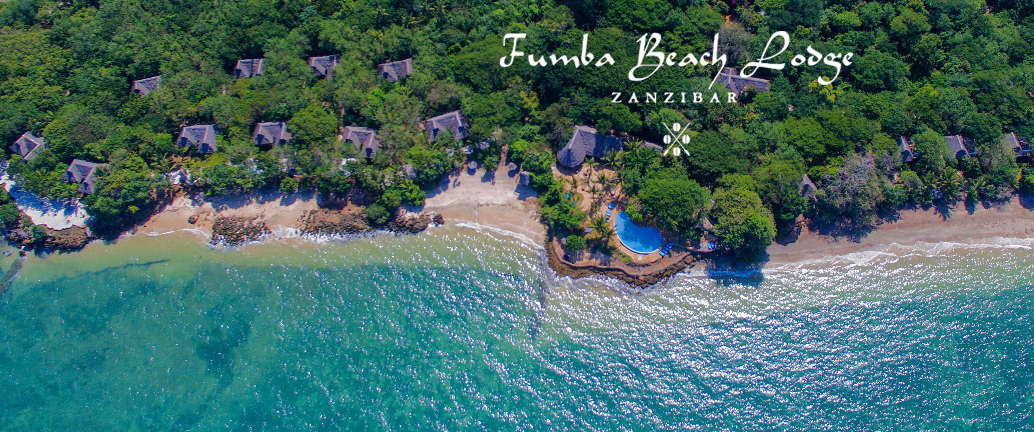 Fumba Beach Lodge From the Sky